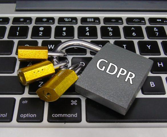 GDPR padlock on computer keyboard