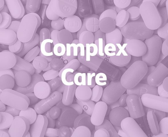 close up on pills, complex care concept