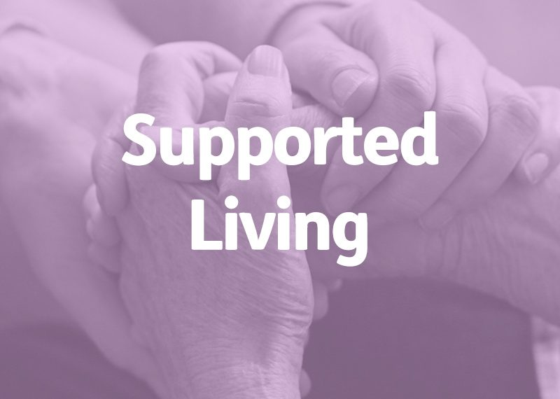 elderly hands, supported living concept