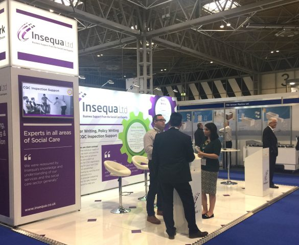 Exhibition stand at Care Show 2017